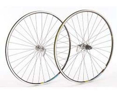 Shimano 105 Silver Hub Mavic Open Pro Black Rim 700c Front Road Bicycle Wheel
