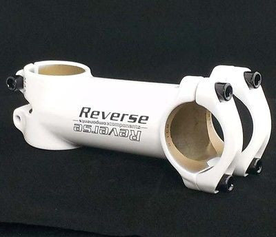 Reverse XC MTB / Road Racing Bike Handlebar Stem 90mm x 31.8mm White