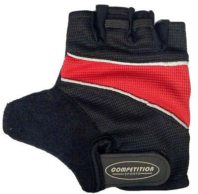 Padded Gel Cycle Bicycle Cycling Bike Mitts Gloves Red Black Medium * CLEARANCE