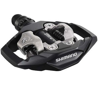 Shimano MTB SPD Trail Pedals Clipless Bike Bicycle Two Sided Black 9/16""
