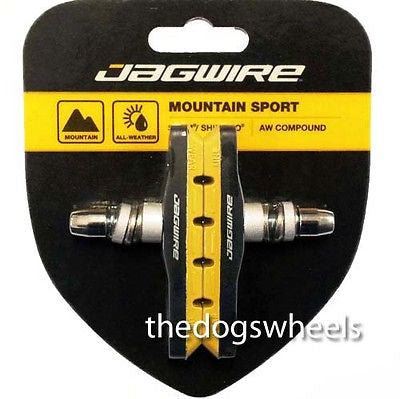 Jagwire V-Brake Brake Pads Blocks MTB Bicycle Bike V Brake Brakes Yellow