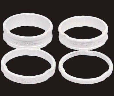 "A2Z Alloy Headset Spacers 1.1/8"" MTB Bike 3mm, 5mm, 8mm, 10mm White Spacer"