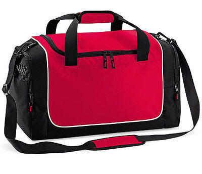 Holdall Duffle Weekend Overnight Gym Sports Travel Bag Red / Black