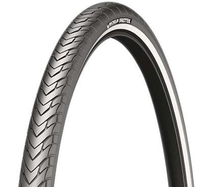 "Michelin Protek Puncture Protection 26"" x 1.85 Mountain Bike MTB Street Road Tyre Semi Slick"