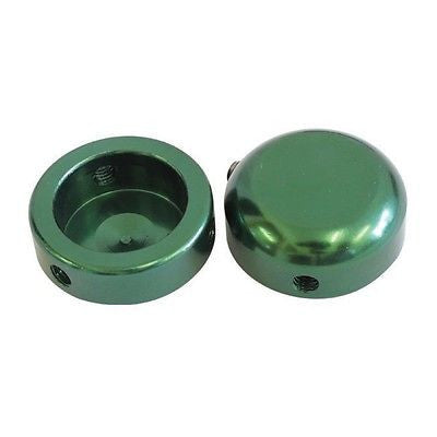 Handlebar End Caps Plug Plugs Anodised green Alloy 22.2mm Bike Bicycle MTB BMX