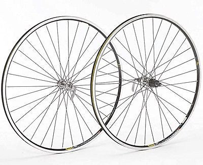 Shimano 105 Silver Hub Mavic Open Pro Black Rim 700c Road Racing Bike Bicycle Wheel