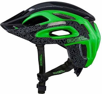 O'neal Orbiter Enduro Style Fidlock MTB Bike Bicycle Helmet Black Green 60-64cms