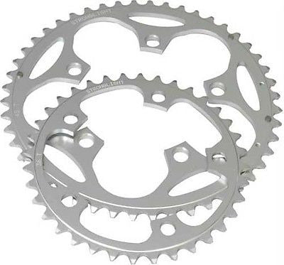 Stronglight 110BCD Road Racing Bike Alloy Compact Chainring 9/10 speed 52T 5 Arm
