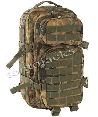 US Assault Pack Army Military Backpack Rucksack Green Camo Camouflage Hiking