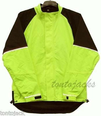 Waterproof cycle cycling jacket high visibility yellow