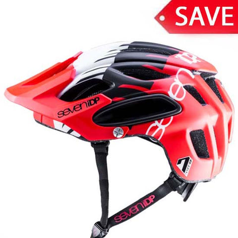 7iDP M2 Enduro All Mountain MTB Helmet Seven idp Red Black White