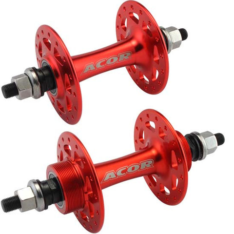 Flip Flop Track Hubs Single Speed 32H Sealed Bearings Red Bike Bicycle