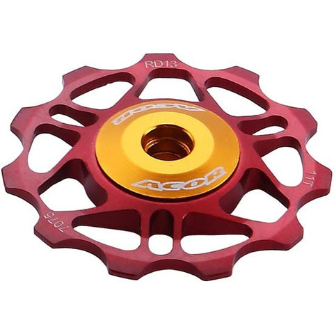 Acor Shimano Alloy 11T Jockey Pulley Wheels 9 - 10 speed MTB Road Bike Red