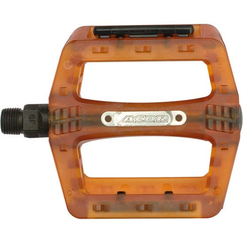 Acor Composite Mountain Bike MTB / BMX Bicycle Pedals Orange 9/16""