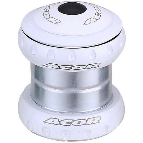 "Acor 1.1/8"" Headset MTB Bicycle Bike Sealed Bearings White Head Set 28.6mm"
