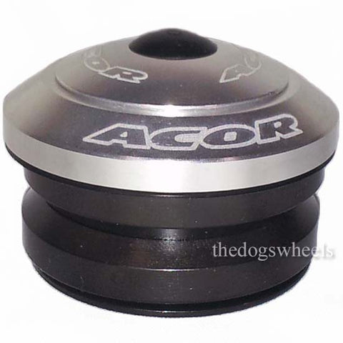 "Acor Fully Integrated Headset 1.1/8"" MTB Bicycle Bike Alloy 41.8mm Bearings Silver"