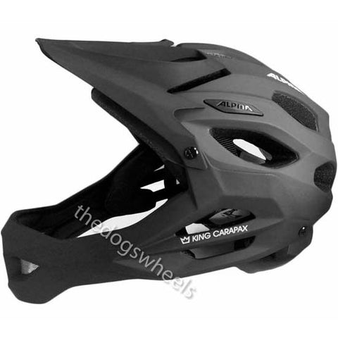 Alpina King Carapax Enduro Helmet Fullface Full Face MTB Bike 57-62cms Black
