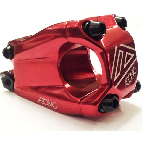 Azonic Baretta Evo Handlebar Stem Mountain Bike MTB Bicycle 31.8mm x 40mm Red