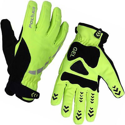 Polaris Hoolie Windproof Winter Cycling Gloves Cycle Bike MTB High Visibility