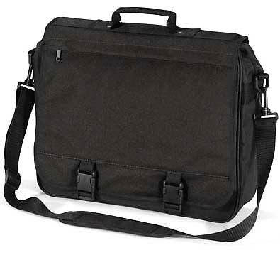 Black Briefcase Messenger Student Shoulder Bag