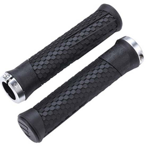 BBB Python Mountain Bike MTB Bicycle Handlebar Lock-on Grips 142mm Lock on Black