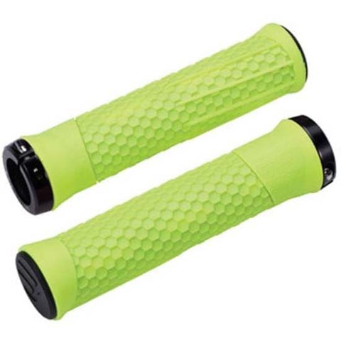 BBB Python Mountain Bike MTB Bicycle Handlebar Lock-on Grips 142mm Lock on Neon Yellow