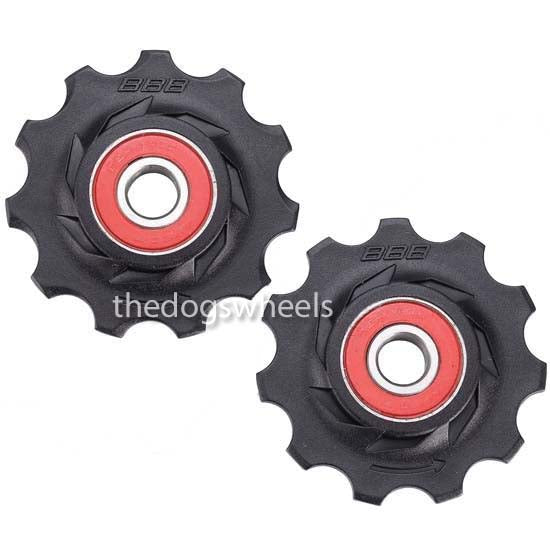 Jockey Pulley Wheels Ceramic 11T Shimano 9/10/11 SRAM X0/X9/X7 Rival Force Red speed