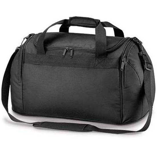 Compact Black Holdall Sports Exercise Gym Overnight Weekend Travel Duffle Bag