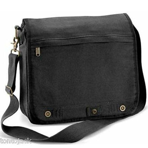 Vintage Canvas Messenger Dispatch Student Shoulder Bag Black Man Bag Manbag