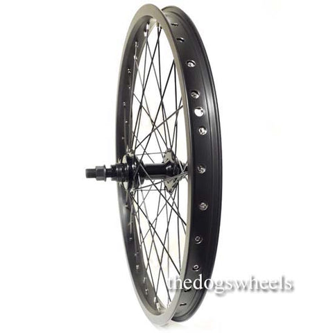 "BMX Bike Bicycle Rear Wheel 20"" x 1.5"" Sealed Bearings 9T Driver Double Wall 14mm axle"