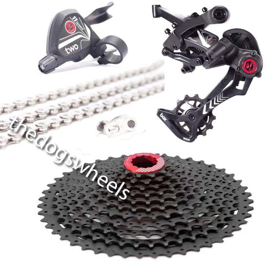 Box Components 1 x 11 Speed Drivetrain Groupset - Shifter, Derailleur, 11-46T Cassette, Chain