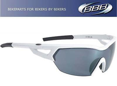 BBB Arriver 3 Lens Interchangeable Sunglasses Cycle MTB Bike Polycarbonate White