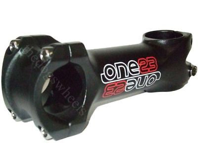"One23 MTB Bicycle Bike 1.1/8"" (28.6mm) Alloy Handlebar Stem 31.8mm x 90mm Black"