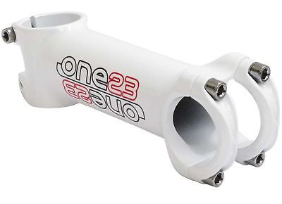 "One23 31.8mm x 80mm MTB / Road Racing Bicycle Bike Handlebar Stem 1.1/8""  White"