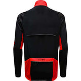 Funkier Tornado Windproof Winter Cycle Cycling Jersey Long Sleeve Red Black