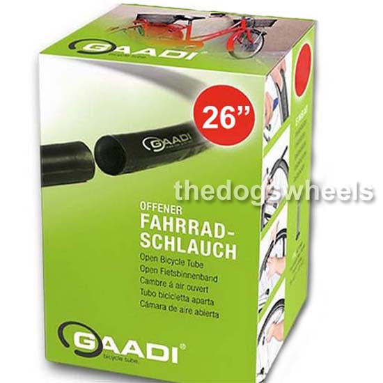 "Gaadi Double End Inner Tube Tubes 26"" x 1.90 - 2.0"" Schrader Two End Bicycle"