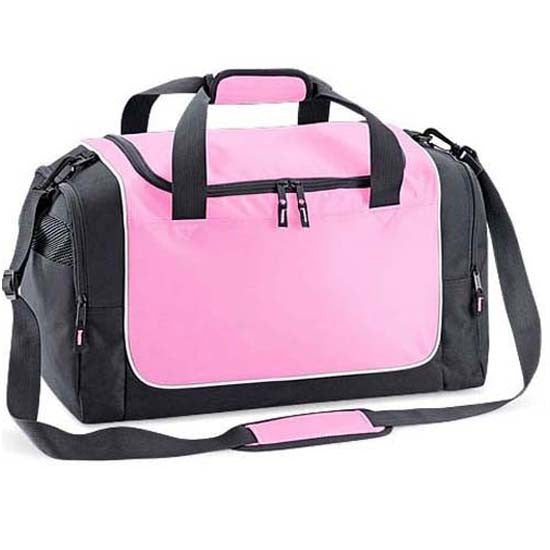 Holdall Weekend Overnight Gym Sports Kit Travel Bag Ladies Womens Girls Pink Grey