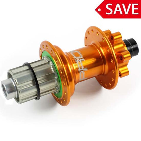 Hope Pro 4 Rear Wheel Hub 12mm x 142mm Bolt Thru 32H Shimano Orange