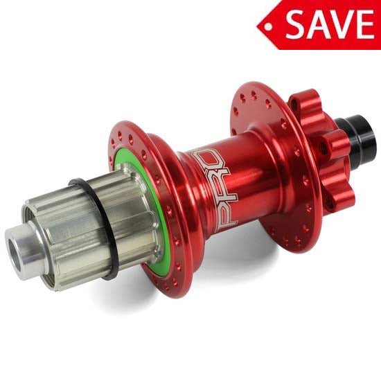Hope Pro 4 Rear Wheel Hub 12mm x 142mm Bolt Thru 32H Shimano Red