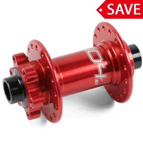 Hope Pro 4 Front Wheel Hub 100 x 15mm Bolt Thru 32H Red