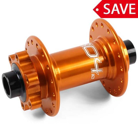 Hope Pro 4 Front Wheel Hub 100 x 15mm Bolt Thru 32H Orange