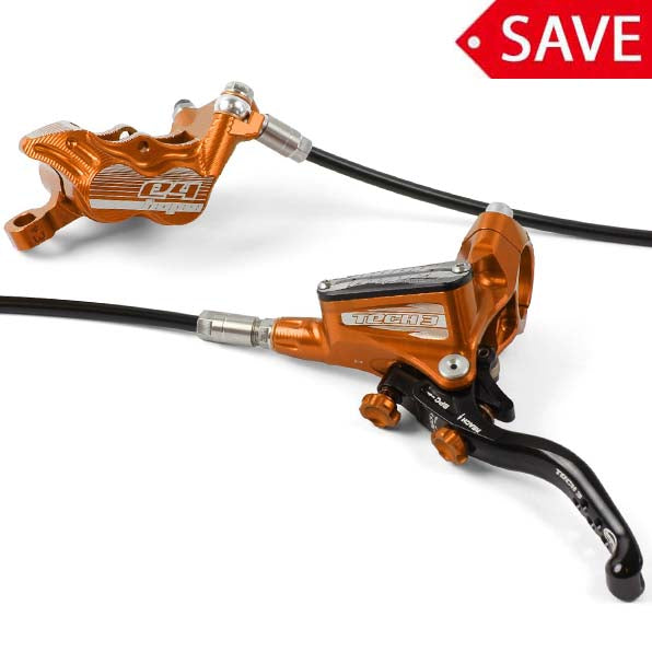 Hope Tech 3 E4 Rear MTB Hydraulic Disc Brake Orange