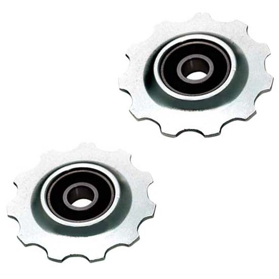 10T Silver Alloy Rear Derailleur Jockey Pulley Wheels MTB Bicycle Bike Sealed