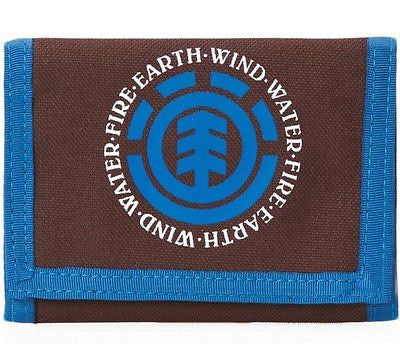 Element Elemental Wallet Mens Mans Boys Brown Blue Ripper Style * CLEARANCE SALE