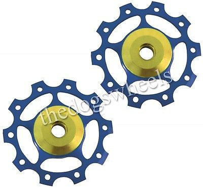One23 Blue Alloy Jockey Pulley Wheels 10T 7075 T6 MTB Bicycle Bike 10 Teeth