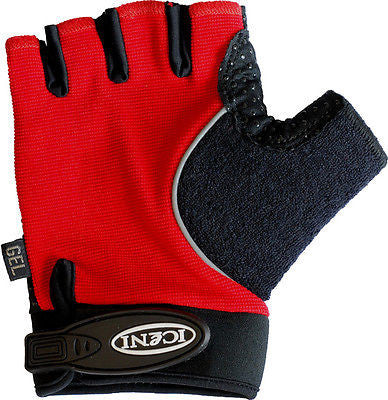 iceni Cycle Mitts / Gloves MTB Bicycle Bike Cycling Anti - Slip Red