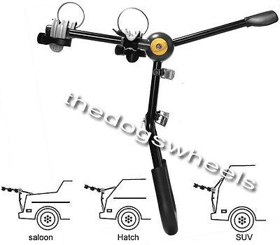 Saris 2 Bike Bicycle Car saloon Hatchback SUV Carrier Rack Lifetime Warranty