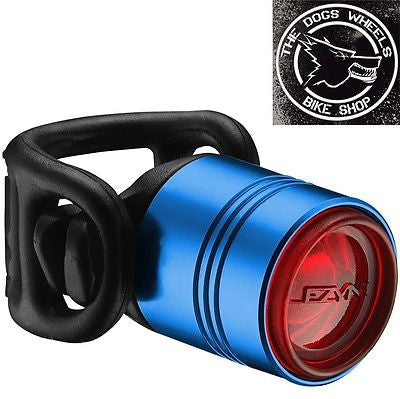 Lezyne Femto Drive Blue Alloy Red LED Rear Bicycle Bike MTB Light Commute Road