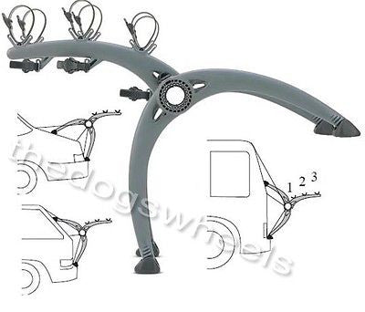 Saris Bones Car Saloon Van Hatchback 3 Bike Bicycle Carrier Rack Life Warranty