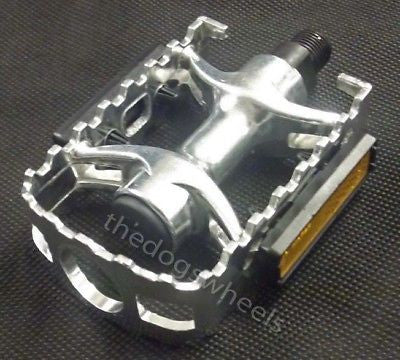 "Alloy MTB Bicycle Bike Cycle ATB Caged Pedals 9/16"" Silver"